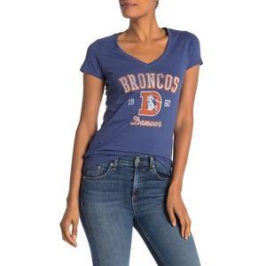 47 Brand Denver Broncos Short Sleeve V-Neck Tee